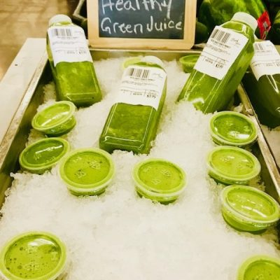 green juice samples
