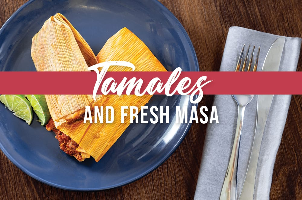 fresh tamales made from scratch