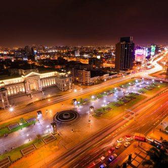 Lima Peru at night